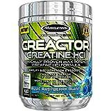 MuscleTech Creactor, Max Potency Creatine Powder, Micronized Creatine and Creatine HCl, Blue Raspberry, 120 Servings (300g)