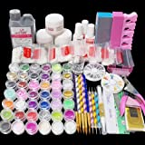 Latorice Acrylic Powder Glitter Nail Art Kit,12 Colors Collection,False Nail Tips Nail Art Decoration Tools,No Acrylic Liquid