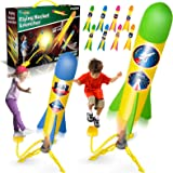 V-Opitos Air Rocket Launch Toy for Kids, 2 Pack Rocket Stomp Launchers with 8 Colorful Foam Rockets, Great Outdoor Game for K