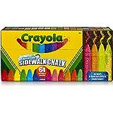 CRAYOLA 51-2064 Washable Sidewalk Chalk, 64ct, Includes Glitter & Neon, Outdoor Gifts for Kids