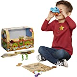 Toy Story 4 Trunk, Woody in A Box - 10Piece Toy Chest - Includes Lenny The Binoculars, Buzz Lightyear Laser Blaster, Woody's