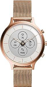 [フォッシル] 腕時計 ハイブリッドスマートウォッチHR FTW7014 レディース 正規輸入品 ピンクゴールド