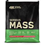 Optimum Nutrition Serious Mass Weight Gainer Protein Powder, Vitamin C, Zinc and Vitamin D for Immune Support, Strawberry, 12