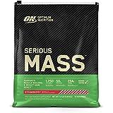 Optimum Nutrition Serious Mass Gainer Protein Powder, Strawberry, 12 Pound