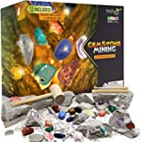 Nature Gear Gemstone Mining Excavation - Discover 15 Precious Gems - Mining Adventure Kit - Science STEM Learning Kids Activi