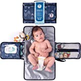 Portable Diaper Changing Pad by Meraki Baby | Waterproof Station Mat Ideal Travel Kit | Easy to Clean | Large Storage Pockets