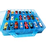 HOME4 Double Sided BPA Free Toy Storage Container - Compatible with Hot Wheels, Mini Toys, Small Dolls - Toy Organizer Carryi