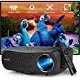 2020 Video Projector Full HD 1080P Native, 5500 Lumens LCD LED Home Theatre Outdoor Projectors 1920x1080 Resolution HDMI USB