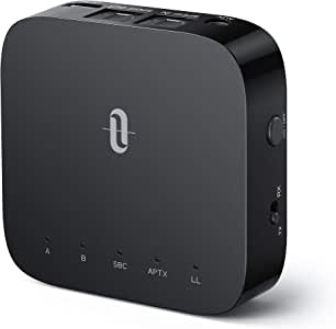 TaoTronics Bluetooth トランスミッター レシーバー 【Type-C 光デジタル 24時間再生】 aptx-LL 低遅延 Bluetooth 5.0 受信機 送信機 2台同時接続 一台二役 小型 TT-BA09 Pro