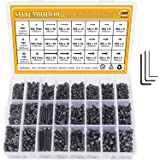 M2 M3 M4 Alloy Steel Screws Nuts and Washers 1200PCS, Sutemribor Hex Socket Head Cap Bolts Screws Nuts Washers Assortment Kit