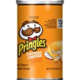 PringlesPotato Crisps Chips, Cheddar Cheese Flavored, Grab and Go, Bulk Size, 2.5 Ounce, Pack of 12