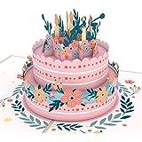 Lovepop Floral Birthday Cake Pop Up Card, 3D Cards, Birthday Card, Birthday Pop Up Card, Greeting Card, Birthday Greeting Car