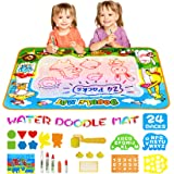 """MOZOOSON Educational Toy-Water Doodle Mat, Kids Large Coloring Mat 40""""x28"""", No Mess Drawing Coloring Mat with 4 Colors, Ideal"""