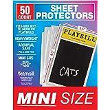 "Samsill Playbill Protectors/Clear Mini Sheet Protectors 5.5"" x 8.5"" Fits Modern to Mid 80's Playbills/Archival Safe/Heavyweig"