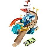 Mattel BGK04 Hot Wheels Color Shifters Sharkport Showdown Trackset, Multi Color