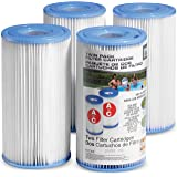 Intex Pool Filter Cartridges - Intex Cartridge Filter Type A and C For Intex Pool Filter Pumps set of (4) - Bundled with (2)