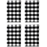 wraphay Buffalo Check Dish Towels Gingham Plaid Tea Towel for Kitchen Cleaning Drying Covering Cloth or Handmade Sewing Kit (