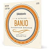 D'Addario EJ55 Medium Banjo Strings - Phosphor Bronze