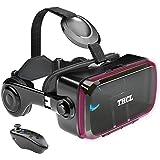 VRゴーグル vrゴーグルスマホ用 VR VRヘッドセット 通話に応答する機能付き アンチブルーレンズ 瞳孔/焦点距離調節 1080PHD画質 3D ゲーム映画動画 4.7~6.2インチの iPhone Android などのスマホ対応 Blueto