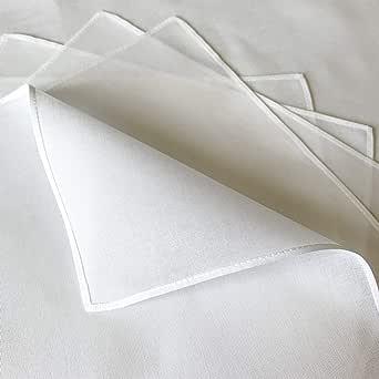 白ハンカチ5枚組 43cm 60ローン綿100% 就活定番アイテム 冠婚葬祭 刺繍 染色 幼稚園行事 学校行事の定番 自由研究 日本製