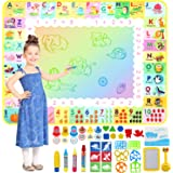 Apsung Aqua Doodle Mat 120 x 90cm Large Water Drawing Painting Mat Mess Free Learning Toys for 2 3 4 5 6 Years Old Boys Girls