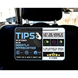 Tips - Five Star Accessories Rider-Share Sign for Driver |Sign Rideshare 5 Stars Tips Taxi Sign Driver Rating Appreciated Rid