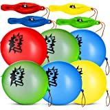 Superhero Punch Balls (Pack of 24) Pow Super Hero Balloons. With Rubber Band, In Assorted Fun Colors, For Prize Box, Birthday