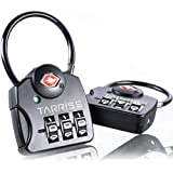 Tarriss TSA Luggage Lock with SearchAlert (2 Pack) (Midnight Black)
