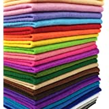 flic-flac 28pcs 12 x 8 inches (30cmx20cm) 1.4mm Thick Soft Felt Fabric Sheet Assorted Color Felt Pack DIY Craft Sewing Square
