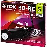 TDK データ用ブルーレイディスク BD-RE 25GB 1-2倍速 ホワイトワイドプリンタブル 5枚 5mmスリムケース BED25PWA5A