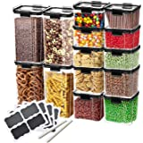 Plastic Storage Containers – for Pantry Organisation and Storage | HyperLock Airtight Vacuum Seal Locks in Freshness, Preserv