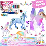 Retruth Kids Unicorn Painting Kits w/ Unicorn Hairband, Kids Painting Toys for Girls, Kids Unicorn Arts and Crafts with Glitt