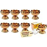 Craftsman Pure Virgin Brass Diwali Puja Jyoti Diya Indian Pooja Oil Lamp Dia Deepawali Diya/Oil Lamp/Candle Tea Light Holder/