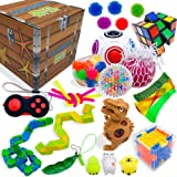 Sensory Fidget Toys Set, Fidget Toys for Adults and Kids, Stress Relief and Anti Anxiety Toys, Cool Fidget Toys Set 25 pcs, N