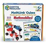 Learning Resources MathLink Cubes Kindergarten Math Activity Set: Mathmobiles! Educational Counting Toy, Math Cubes, Linking