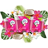 Glade Candle Exotic Tropical Blossoms, Fragrance Candle Infused with Essential Oils, Air Freshener Candle, 3-Wick Candle, 6.8