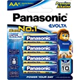 Panasonic AA Evolta Alkaline Batteries, 4-Pack (LR6EG/4B)
