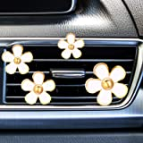 Mudder 8 Pieces Daisy Flowers Air Vent Clips Car Freshener Clip Air Vent Decorative Clip for Car Air Vent Decorations Accesso
