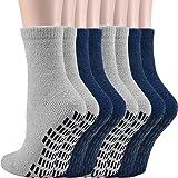 Jormatt Women Non Skid/Slip Crew Socks Hospital Socks, Fuzzy Slipper Gripper Socks