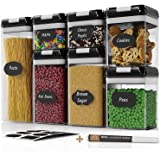 Chef's Path Airtight Food Storage Container Set - 7 PC Set - Chalkboard Labels & Marker - Kitchen & Pantry Containers - BPA-F