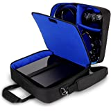 USA GEAR Console Carrying Case Compatible with PlayStation 4 / PS4 Slim & PS4 Pro with Accessory Storage for Controllers , Ca