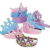 Fun Express - Foam Tiara Assortment - Apparel Accessories - Hats - Tiaras & Crowns - 12 Pieces
