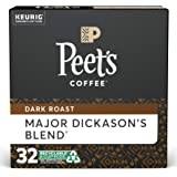 Peet's Coffee Major Dickason's Blend, Dark Roast,K-Cup, 32 ct