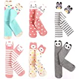 EIAY Shop Kids Cotton Socks Knee High Stockings Cute Cartoon Animals for 3-8 Year Olds