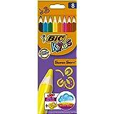 ビック BICKIDS 色鉛筆 スーパーソフト 8色 鉛筆削り付き BKSSFT8E