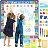 Apsung Large Aqua Doodle Mat,100 x 100 cm Extra Large Water Drawing Doodling Mat Coloring Mat Educational Toys Gifts for Kids