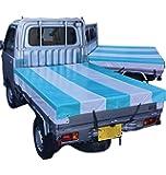 軽トラック 荷台シート 軽トラカスタム 用 1.9m×2.1m ゴムバンド18mm幅12本紐ロープ長さ1m2本付