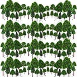 BESTZY 50pcs Miniature Trees Mixed Model Trees Model Train Scenery Architecture Trees Model Scenery with No Stands