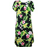 RJC Women's Lahaina Garden Tea Length Hawaiian Muumuu House Dress