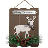 Valery Madelyn 16x12 inch Merry Christmas Wood Signs, Farmhouse Vintage Wooden Plaques, Decorative Hanging Wooden Sign Wall&D